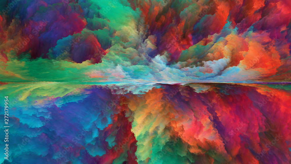 Fototapety, obrazy: Vision of Abstract Landscape