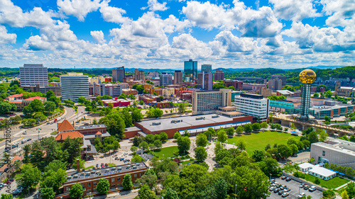 Knoxville, Tennessee USA Downtown Skyline Aerial Wallpaper Mural