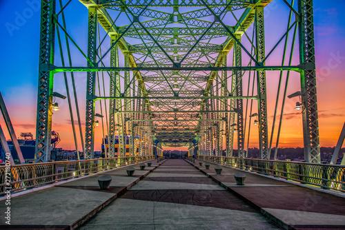 Nashville Tennessee Pedestrian Bridge at Sunrise