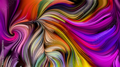 Wall Murals Psychedelic Paint in Motion