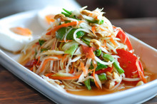 Spicy Salad, Som Tam Or Spicy Salad