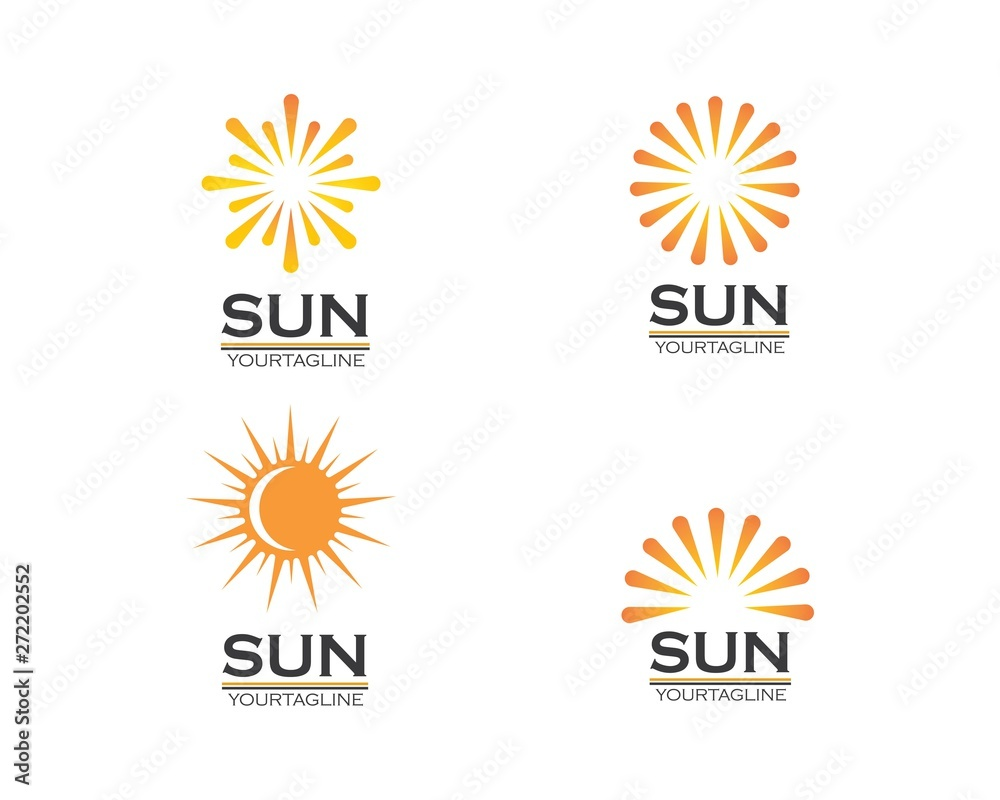 Fototapety, obrazy: sun ilustration logo vector icon