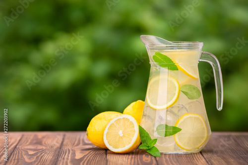 Fototapeta lemonade in glass jug