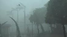 Hurricane Irma Violent Eye Wall Wind And Rain