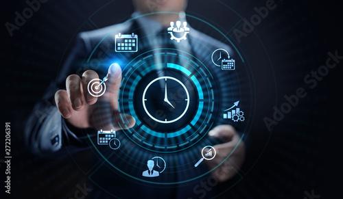 Cuadros en Lienzo  Time management project planning business internet technology concept