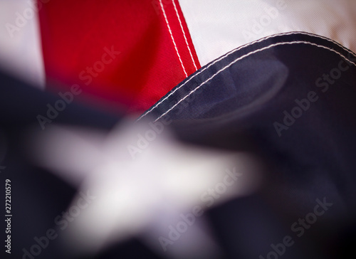 American flag symbol United States of America close-up background Canvas Print