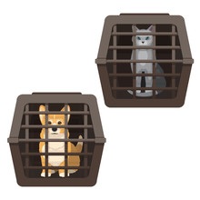Pet Cage Vector Illustration I...