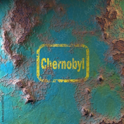 Fotografie, Obraz  surface of rusty iron with peeling paint