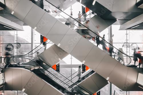Fotografie, Obraz People walking on escalator