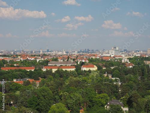 Fototapeta Aerial view of Berlin obraz na płótnie