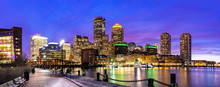 Boston Downtont Night Panorama