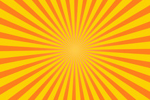 Orange Sun Ray Burst Abstract ...