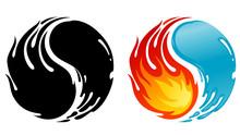 Fire And Water Balance, Yin Yang Symbol