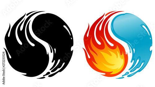 Fire And Water Balance Yin Yang Symbol Buy This Stock Vector And Explore Similar Vectors At Adobe Stock Adobe Stock