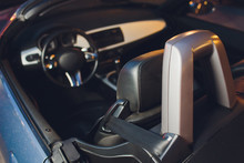 Convertible Car's System With Soft Top Closing Opening.