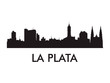 La Plata skyline silhouette vector of famous places