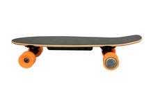 Skate With Orange Wheels Isola...