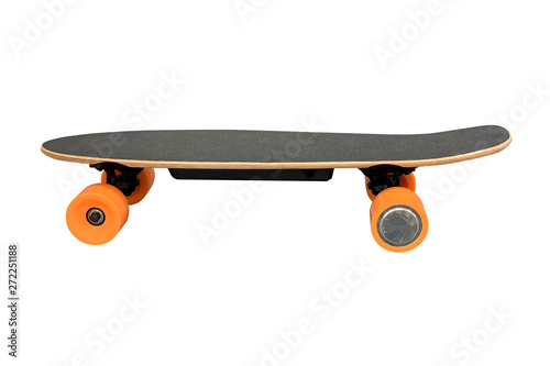 skate with orange wheels isolated on white background