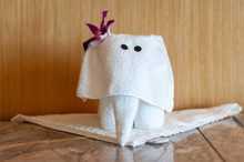 Elephant Towel Art In The Hote...