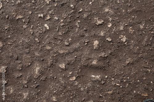 Valokuvatapetti Stony road surface texture