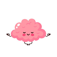 Strong Cute Healthy Happy Human Brain Meditate