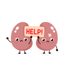 Sad Suffering Sick Cute Kidneys