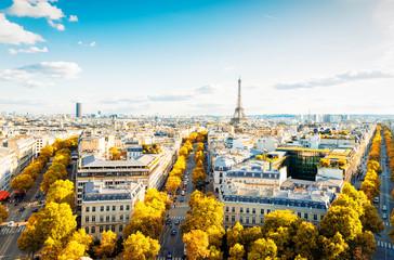 Fototapeta Paryż eiffel tour and Paris cityscape