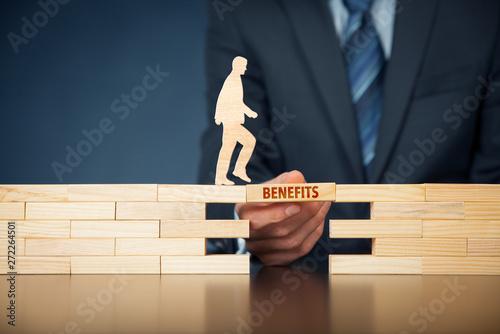 Fototapeta Employee benefits help to get the best human resources obraz