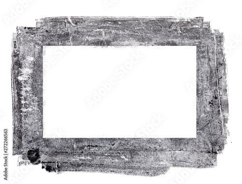 Handmade Mixed Media Textured Frame Canvas Print