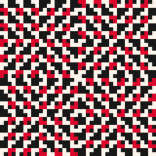 Vector Knitted Seamless Pattern. Traditional Geometric Folklore Ornament