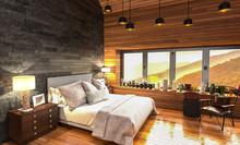 Modernes Landhausschlafzimmer Mit Aussicht