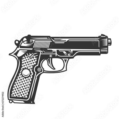 Monochrome handgun template Canvas Print
