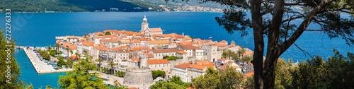 Obraz na plátně Town of Korcula, Dalmatia, Croatia