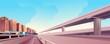 cityscape road bridges