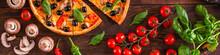 Pizza, Mushrooms, Olives, Chic...