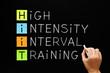 Leinwanddruck Bild - HIIT - High Intensity Interval Training