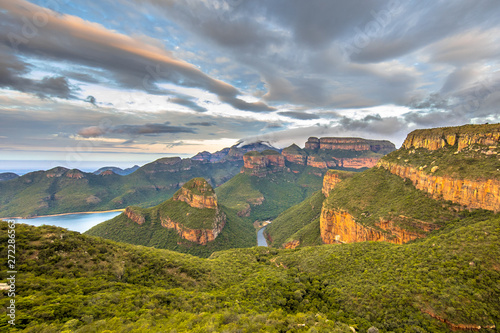 Blyde river canyon Three rondavels view