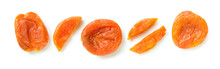 Dried Apricot Composition Isolated On White Background