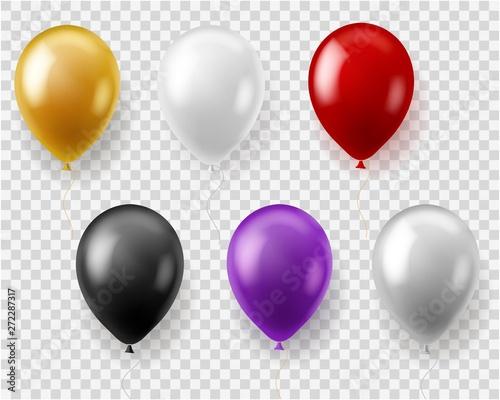 Photo Colorful balloons set