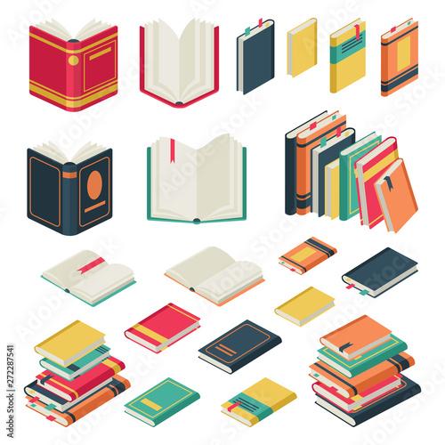 Carta da parati Isometric book collection