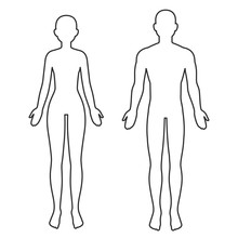 Male And Female Body Outline