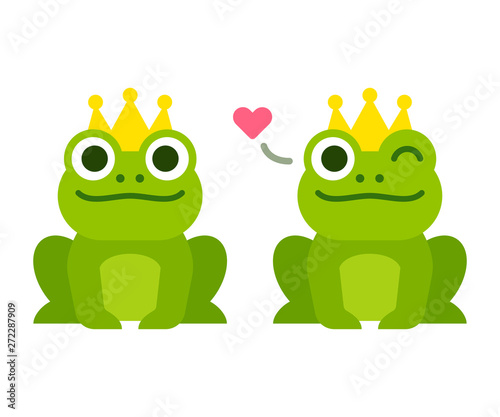 Valokuvatapetti Cute frog prince