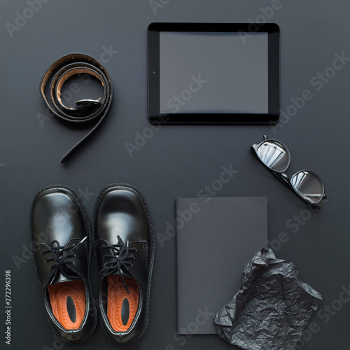 Fotografia, Obraz  Happy Father's Day Set with belt, shoes, tablet