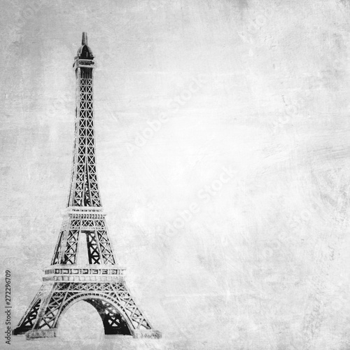 Foto op Canvas Eiffeltoren Eiffel tower on grunge background