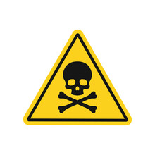 Skull And Bones Danger Sign. V...