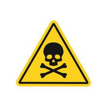 Skull And Bones Danger Sign. Vector. Isolated.
