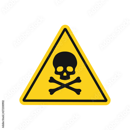 Skull and bones danger sign. Vector. Isolated. Canvas-taulu