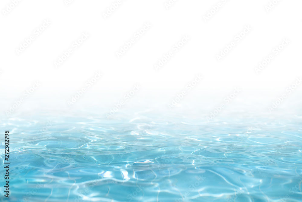 Fototapeta Blue Water surface, abstract background with a text field
