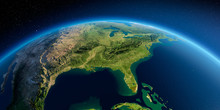 Detailed Earth. Gulf Of Mexico...