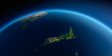 Detailed Earth. New Zealand